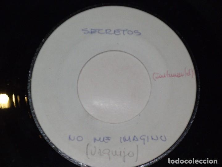 Discos de vinilo: LOS SECRETOS SINGLE NO ME IMAGINO/NO ME IMAGINO (INSTRUM) primer tesst super raro para radio españa - Foto 2 - 163717314