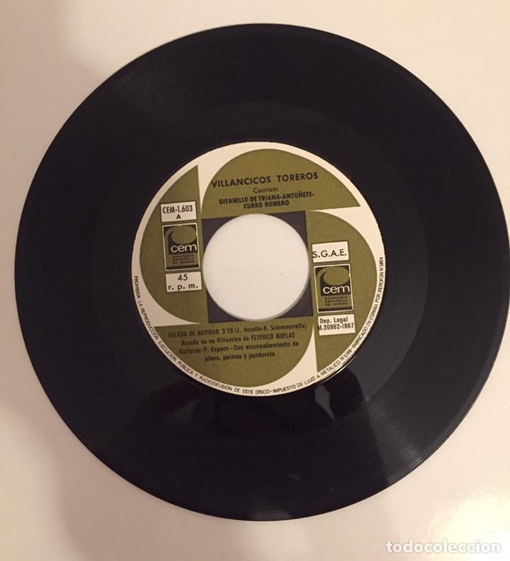 Discos de vinilo: VILLANCICOS TOREROS-GITANILLO DE TRIANA,ANTOÑETE,CURRO ROMERO/SINGLE 1967 CEM,ESPAÑA - Foto 2 - 163718718