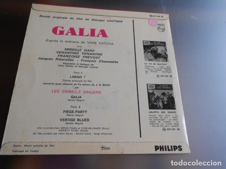 Discos de vinilo: GALIA B. S. O, EP, LES SWINGLE SINGERS - LARGO + 3, AÑO 19?? MADE IN FRANCE - Foto 2 - 163724278