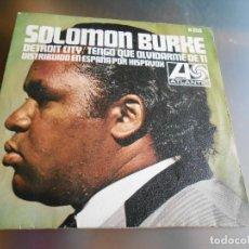 Discos de vinilo: SALOMON BURKE, SG, DETROIT CITY + 1, AÑO 1967. Lote 163729490