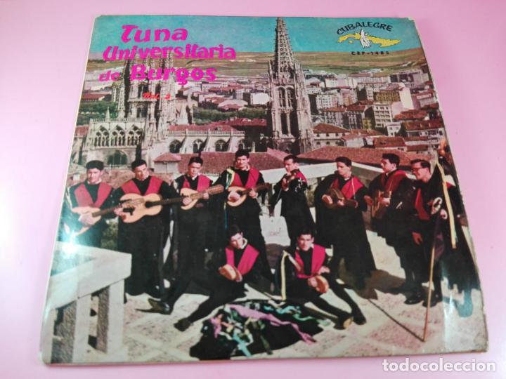 VINILO-SINGLE-TUNA UNIVERSITARIA DE BURGOS-VOLUMEN 3-1962-CUBALEGRE-BUEN ESTADO-VER FOTOS (Música - Discos - Singles Vinilo - Clásica, Ópera, Zarzuela y Marchas)