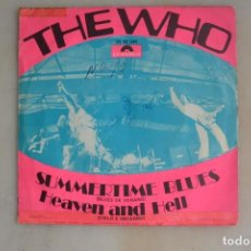 Discos de vinilo: DISCO SINGLE THE WHO SUMMERTIME BLUES. Lote 163733154