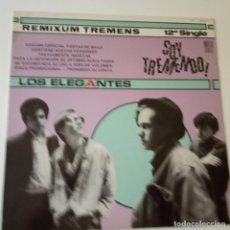 Discos de vinilo: LOS ELEGANTES- SOY TREMENDO- MAXI SINGLE PROMO 1985- VINILO NUEVO. IMPECABLE.. Lote 163741530