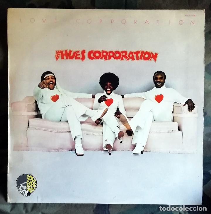 THE HUES CORPORATION – LOVE CORPORATION LP, SPAIN 1975 INCL ENCARTE (Música - Discos - LP Vinilo - Funk, Soul y Black Music)