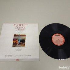 Discos de vinilo: 519- PASODOBLES FAMOSOS AL ACORDEON SPAIN 1987 LP VINILO PORT VG + VG +. Lote 195086065