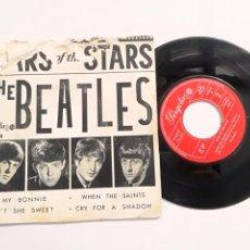 Discos de vinilo: THE BEATLES - STARS OF THE STARS - EP ESPAÑOL PERGOLA 1962 // ED. CIRCULO DE LECTORES MY BONNIE + 3 . Lote 163764370