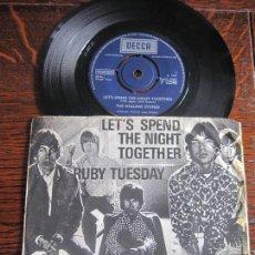 Discos de vinilo: THE ROLLING STONES `LET´S SPEND THE NIGHT TOGETHER` 1967 DECCA UK. EXPORT DK.. Lote 194242395