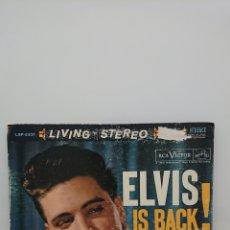 Discos de vinilo: ENVÍO GRATIS ELVIS PRESLEY - ELVIS IS BACK! 1960 ESTÉREO STEREO EDICIÓN ORIGINAL CANADIENSE. Lote 163793881