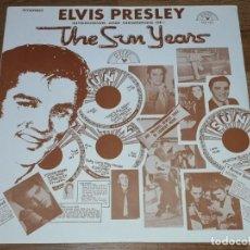 Discos de vinilo: ELVIS PRESLEY LP THE SUN YEARS,1977 ROCK'N'ROLL-ROCKABILLY (COMPRA MINIMA 15 EUR). Lote 163801658