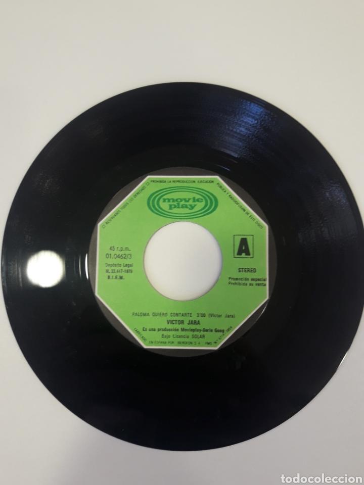 Discos de vinilo: Victor Jara - single vinilo PROMO Paloma Quiero Contarte - Foto 4 - 163828777