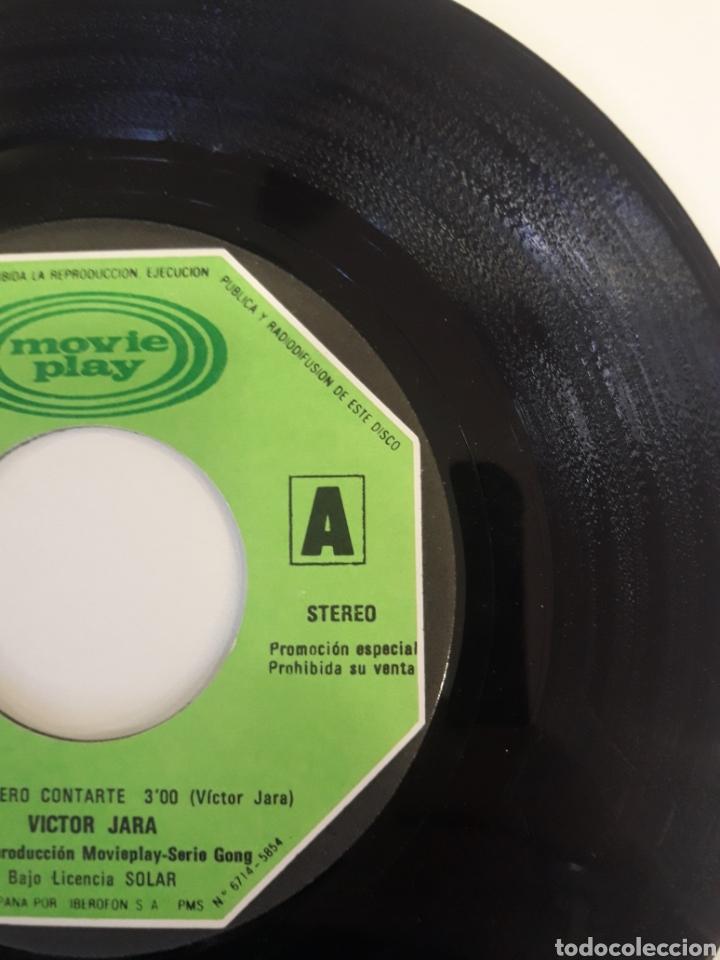 Discos de vinilo: Victor Jara - single vinilo PROMO Paloma Quiero Contarte - Foto 6 - 163828777