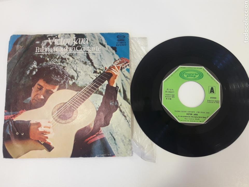 VICTOR JARA - SINGLE VINILO PROMO PALOMA QUIERO CONTARTE (Música - Discos - Singles Vinilo - Country y Folk)