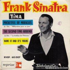 Discos de vinilo: FRANK SINATRA - TINA - EP FRANCES DE VINILO. Lote 163840086