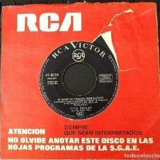 Discos de vinilo: ELVIS PRESLEY - SE VENDE UN CORAZON DESENGAÑADO - 1963 . Lote 163840270