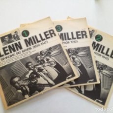 Discos de vinilo: GLENN MILLER - THE SWINGING BANDS 1939/42 (VOL.1, 2 Y 3)- 3 LP ITALY JOCKER 1974 . Lote 163860490