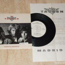 Discos de vinilo: TARZEN / INMEDIATE OBEDIENCE/MADRID SINGLE-PROMOCIONAL 1989 TWINS + HOJA PROMO SALVADOR . Lote 163864166