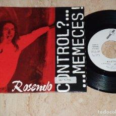 Discos de vinilo: ROSENDO - CONTROL ? MEMECES! 1992 DISCO PROMOCIONAL. Lote 163875238