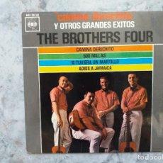 Discos de vinilo: THE BROTHERS FOUR.THE BROTHERS FOUR. CAMINA DERECHO.BUEN ESTADO. EP ESPAÑA.. Lote 163924206