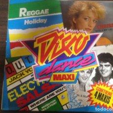 Discos de vinilo: RARO 4 MAXI SINGLE EN UN SOLO DISCO VINILO DISCO DANCE MAXI. Lote 163947626
