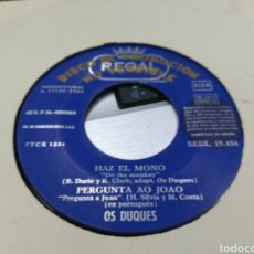 Discos de vinilo: OS DUQUES EP PROMOCIONAL HAZ EL MONO + 3 1965. Lote 163953304