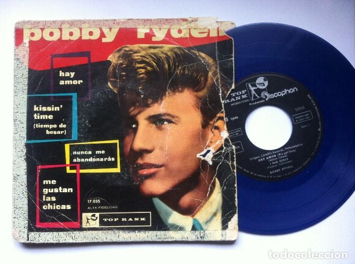 BOBBY RYDELL - ME GUSTAN LAS CHICAS - EP VINILO AZUL 1960 - TOP RANK / DISCOPHON (Música - Discos de Vinilo - EPs - Rock & Roll)