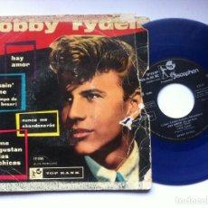 Discos de vinilo: BOBBY RYDELL - ME GUSTAN LAS CHICAS - EP VINILO AZUL 1960 - TOP RANK / DISCOPHON. Lote 163955630