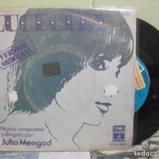 Discos de vinilo: BSO - LUCECITA - JULIO MENGOD LUCECITA / SEVEN JACKALS SINGLE SPAIN 1975 PDELUXE. Lote 163961082
