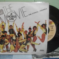 Discos de vinilo: BSO - A CHORUS LINE - THE MOVIE ONE (FINALE) SINGLE SPAIN 1986 PDELUXE. Lote 163963930