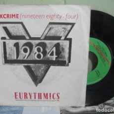 Discos de vinilo: BSO - 1984 -- EURYTHMICS SEXCRIME SINGLE SPAIN 1984 PDELUXE. Lote 163964538