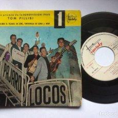Discos de vinilo: PAJAROS LOCOS - TOM PILLIBI - EP 1960 - VARIETY -EUROVISION-CON FIRMAS DE LA BANDA Y DEDICATORIA. Lote 163972874