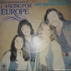 Discos de vinilo: VINILO SINGLE ASONG FOR EUROPA. Lote 163987225