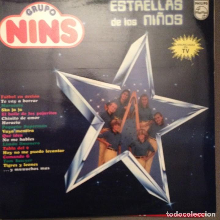 GRUPO NINS ?: ESTRELLAS DE LOS NIÑOS SELLO: PHILIPS ?– 63 01 045 AÑO 1981 MECANO, NARANJITO,COMANDO (Música - Discos - LPs Vinilo - Música Infantil)