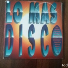 Discos de vinilo: LO MAS DISCO-DOBLE LP. Lote 164069026