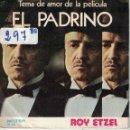 Discos de vinilo: BSO-EL PADRINO - TEMA DE AMOR / LORY (ROY ETZEL) (SINGLE ESPAÑOL, BELTER 1972). Lote 164077870