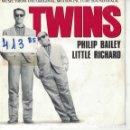 Discos de vinilo: BSO-TWINS - PHILIP BAILEY AND LITTLE RICHARD (SINGLE PROMO ESPAÑOL, EPIC 1988). Lote 164087082