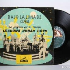 Discos de vinilo: DISCO LP DE VINILO - LECUONA CUBAN BOYS / BAJO LA LUNA DE CUBA - LA VOZ DE SU AMO - LP 10 - AÑOS 50. Lote 164116662