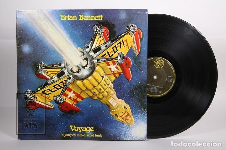 DISCO LP DE VINILO - BRIAN BENNETT / VOYAGE - DJM RECORDS - 1978 - PORTADA ABIERTA (Música - Discos - LP Vinilo - Electrónica, Avantgarde y Experimental)