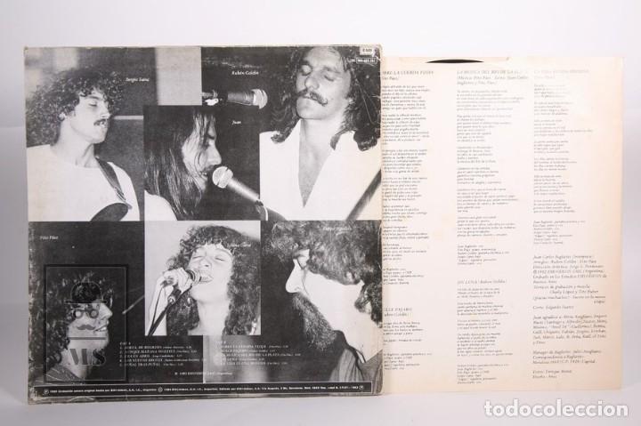 Discos de vinilo: Disco LP De Vinilo - Juan Carlos Baglietto / Tiempos Dificiles - EMI - 1982 - Encarte con Letras - Foto 3 - 164119214