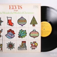Discos de vinilo: DISCO LP DE VINILO - ELVIS PRESLEY / SINGS THE WONDERFUL WORLD OF CHRISTMAS - RCA - 1971 - USA. Lote 164125029