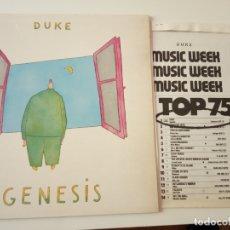 Discos de vinilo: GENESIS- DUKE - SPAIN LP 1980 + DOSSIER DE PRENSA- VINILO COMO NUEVO.. Lote 164142034