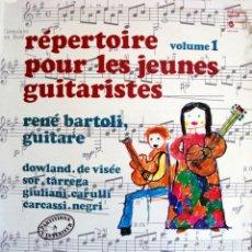 Discos de vinilo: RENÉ BARTOLI. RÉPERTOIRE ÒUR LES JEUNES GUITARISTES.. Lote 164178414