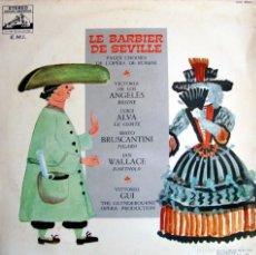 Discos de vinilo: EL BARBERO DE SEVILLA, DE ROSSINI. VICTORIA DE LOS ANGELES, LUIGI ALVA, SESTO BRUSCANTINI.. Lote 164180390