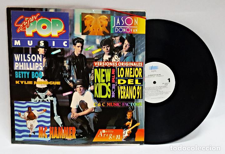DISCO DE VINILO LP SUPER POP MUSIC EDICION EN CARPETA CON GOMILLAS (Música - Discos - LP Vinilo - Pop - Rock Extranjero de los 90 a la actualidad)