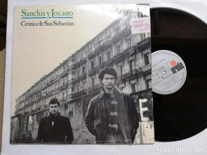 SANCHIS Y JOCANO. CRÓNICA DE SAN SEBASTIÁN. ARIOLA, 1987. ESPAÑA. MAXI SINGLE VINILO (Música - Discos de Vinilo - Maxi Singles - Grupos Españoles de los 70 y 80)