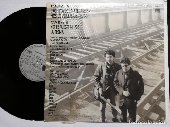 Discos de vinilo: SANCHIS Y JOCANO. CRÓNICA DE SAN SEBASTIÁN. ARIOLA, 1987. ESPAÑA. MAXI SINGLE VINILO - Foto 3 - 164234298