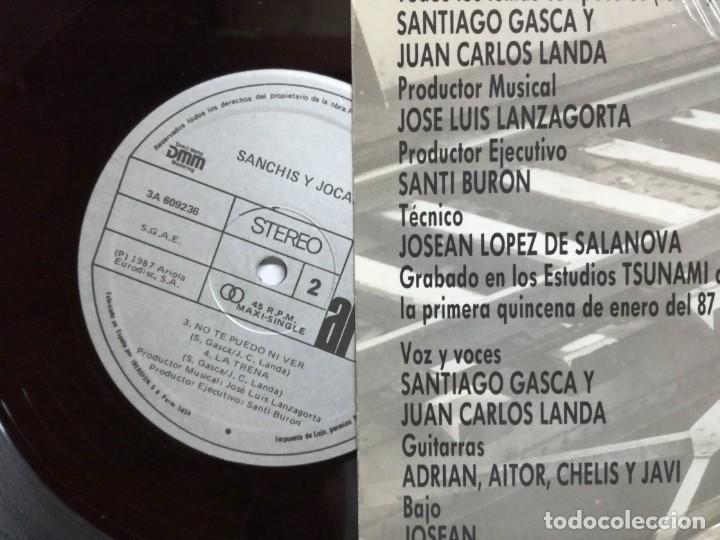 Discos de vinilo: SANCHIS Y JOCANO. CRÓNICA DE SAN SEBASTIÁN. ARIOLA, 1987. ESPAÑA. MAXI SINGLE VINILO - Foto 4 - 164234298