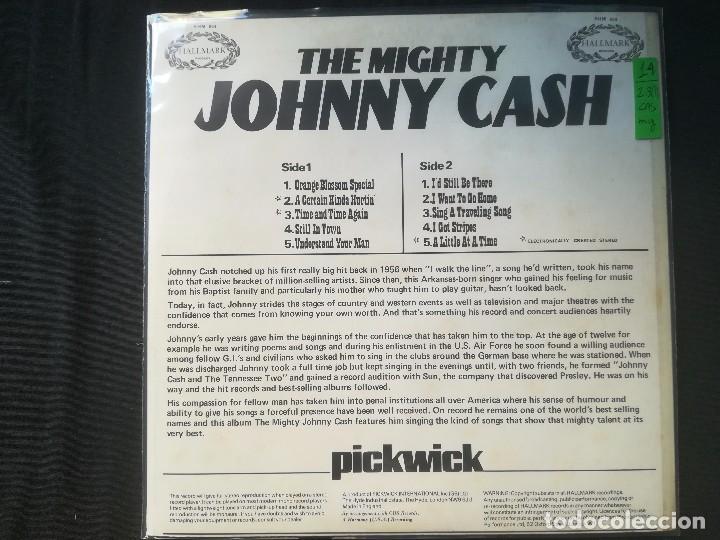 Discos de vinilo: JOHNNY CASH - THE MIGHTY JOHNNY CASH - Foto 2 - 164239818
