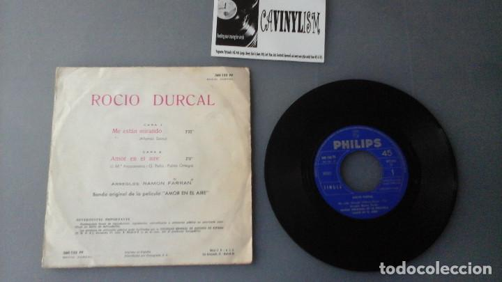 Discos de vinilo: Rocío Dúrcal ?– Me Estan Mirando Label: Philips ?– 360 132 PF Single 1967 Raro - Foto 2 - 164262486