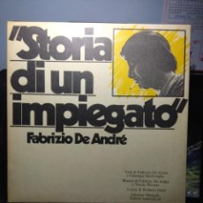 Discos de vinilo: LP FABRIZIO DE ANDRÉ : STORIA DI UN IMPIEGATO ( ORIGINAL ITALIANO DE 1973, PRIMERA EDICION) . Lote 164281966