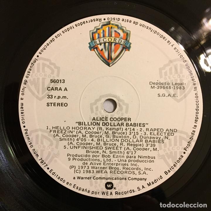Discos de vinilo: ALICE COOPER - BILLION DOLLAR BABIES LP, REEDICIÓN, 1983, ESPAÑA - Foto 5 - 164378270